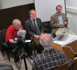 Hugh Owen in Ireland debating with Michael Nugent of Atheist Ireland
